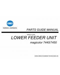 Konica-Minolta magicolor 7450 7440 Lower-Feed-Unit Parts Manual