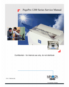 Konica-Minolta pagepro 1200 Service Manual