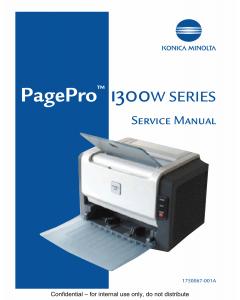 Konica-Minolta pagepro 1300W Service Manual