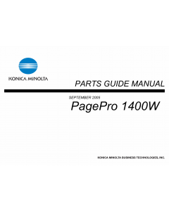 Konica-Minolta pagepro 1400W Parts Manual
