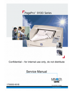 Konica-Minolta pagepro 9100 Service Manual