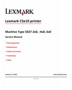 Lexmark CS CS310 CS410 SC510 5027 Service Manual