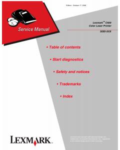 Lexmark C C920 5056 Service Manual