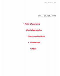 Lexmark InfoPrint 1832 1852 1872 Service Manual