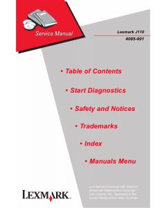 Lexmark J J110 4085 Service Manual