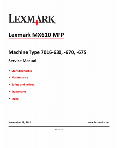 Lexmark MX MX610 MX611 7016 Service Manual