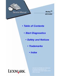 Lexmark Medley 4012 Service Manual