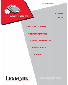 Lexmark Option 5500MFP 4036 Service Manual