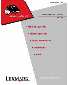 Lexmark T T640 T640n T642 T642n T644 T644n 4061 Service Manual
