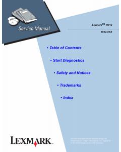 Lexmark W W812 4022 Service Manual