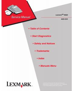 Lexmark W W820 4025 Service Manual