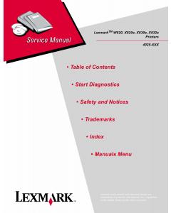 Lexmark W W830e W820 W820e W832e 4025 Service Manual
