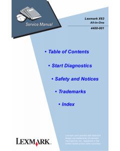 Lexmark X X63 4400 Service Manual