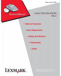 Lexmark X X642e X644e X646e 7002 Service Manual