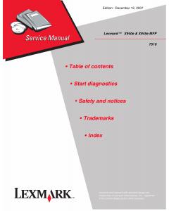 Lexmark X X940e X945eMFP 7510 Service Manual