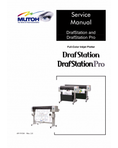 MUTOH RJ 900C RJ901C DrafStation DrafStationPro Service Manual