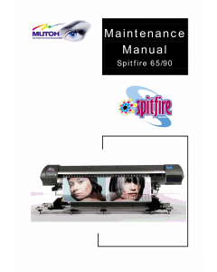 MUTOH Spitfire 65 90 Maintenance Service Manual