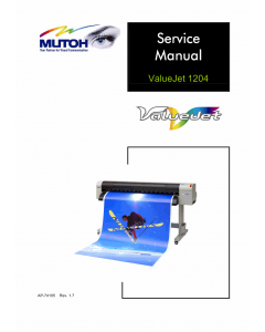MUTOH ValueJet VJ 1204 Service and Parts Manual