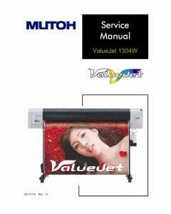 MUTOH ValueJet VJ 1304W Service Manual
