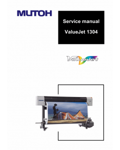 MUTOH ValueJet VJ 1304 Service Manual