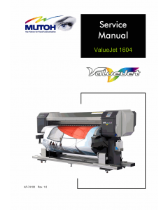 MUTOH ValueJet VJ 1604 Service Manual