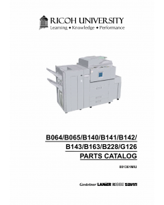 RICOH Aficio 1060 1075 2051 2060 2075 MP5500 MP6000 MP6500 MP7000 MP7500 MP8000 Parts Catalog