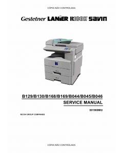 RICOH Aficio 120 1013 1013f 1515 1515F 1515MF B129 B130 B168 B169 B044 B045 B046 Service Manual