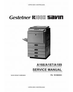 RICOH Aficio 2003 2103 2203 A166 A187 A189 Service Manual