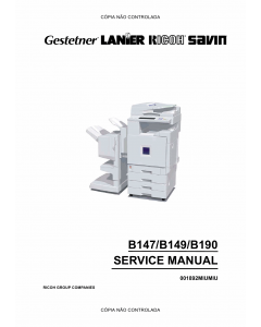 RICOH Aficio 2228C 2232C 2238C B147 B149 B190 Service Manual