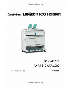 RICOH Aficio 240W B125 B275 Parts Catalog
