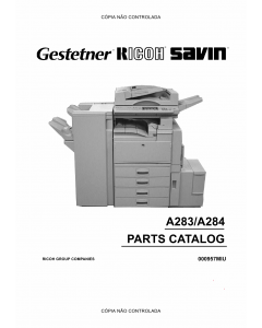 RICOH Aficio 350e 450e A283 A284 Parts Catalog
