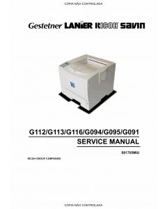 RICOH Aficio AP-410 410N 610B 4100 400N 600N G112 G113 G116 G094 G095 G096 Service Manual