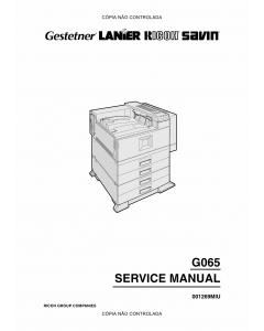 RICOH Aficio AP-4510 G065 Service Manual