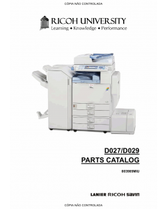 RICOH Aficio C4000 C5000 D027 D029 Parts Catalog