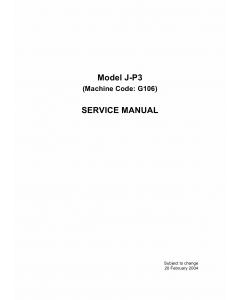 RICOH Aficio CL-7100 G106 Parts Service Manual