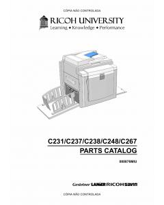 RICOH Aficio DX-3340 JP-1030 1230 3000 1235 C231 C237 C238 C248 C267 Parts Catalog