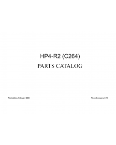 RICOH Aficio DX-4542 4542C 4542CP 4543C 4543CP C264 Parts Catalog