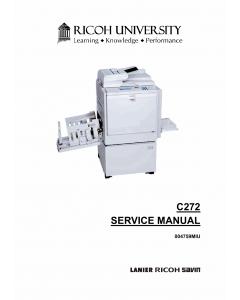 RICOH Aficio DX4545 C272 Service Manual