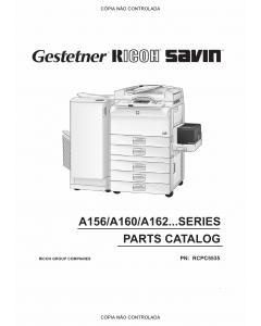 RICOH Aficio FT-4022 5850 A161 A207 Parts Catalog