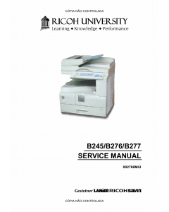 RICOH Aficio MP-1500 1600 2000 1600L 2000L B245 B276 B277 Service Manual