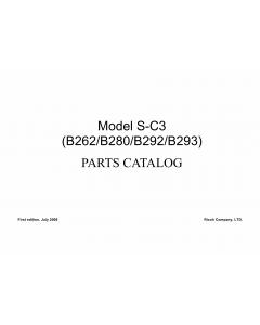 RICOH Aficio MP-161LN MP161L MP161 B262 B280 B292 B293 Parts Catalog