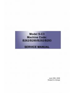 RICOH Aficio MP-161LN MP161L MP161 B262 B280 B292 B293 Service Manual