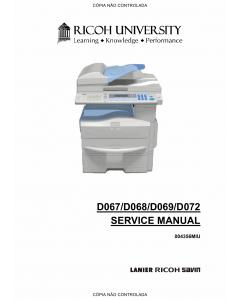 RICOH Aficio MP-171 171F 171S 171SPF D067 D068 D069 D072 Service Manual