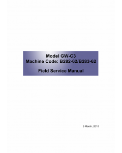 RICOH Aficio MP-1811L MP2011L B282-62 B283-62 Service Manual