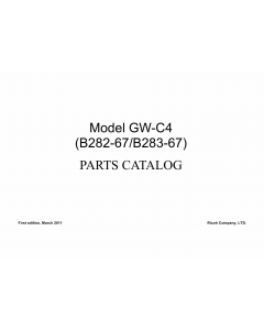 RICOH Aficio MP-1812L MP2012L B282-67 B262-68 B283-67 B283-68 Parts Catalog