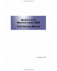 RICOH Aficio MP-1900 D096 Service Manual