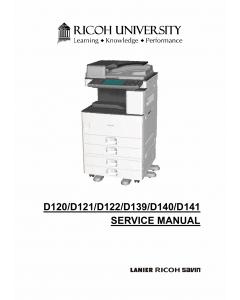 RICOH Aficio MP-2352SP 2852 3352 D120 D121 D122 D139 D140 D141 Service Manual