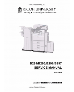 RICOH Aficio MP-3500g 4500g 3500 4500 B291 B295 B296 B297 Service Manual