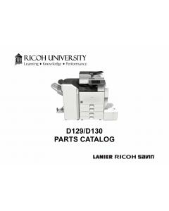 RICOH Aficio MP-4002 4002SP 5002 5002SP D129 D130 Parts Catalog
