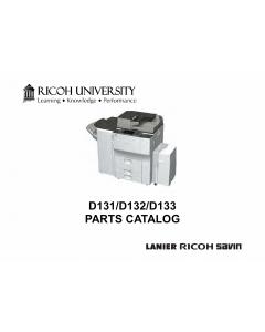 RICOH Aficio MP-6002 7502 9002 D131 D132 D133 Parts Catalog
